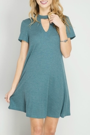 She + Sky High Neck Keyhole Dress - Product Mini Image