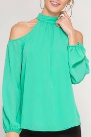 She + Sky High Neck Top - Product Mini Image