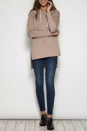 She + Sky Hooded Hi-Low Sweatshirt - Front full body