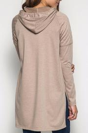 She + Sky Hooded Hi-Low Sweatshirt - Back cropped