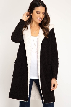 Shoptiques Product: Hooded Shearling Coat