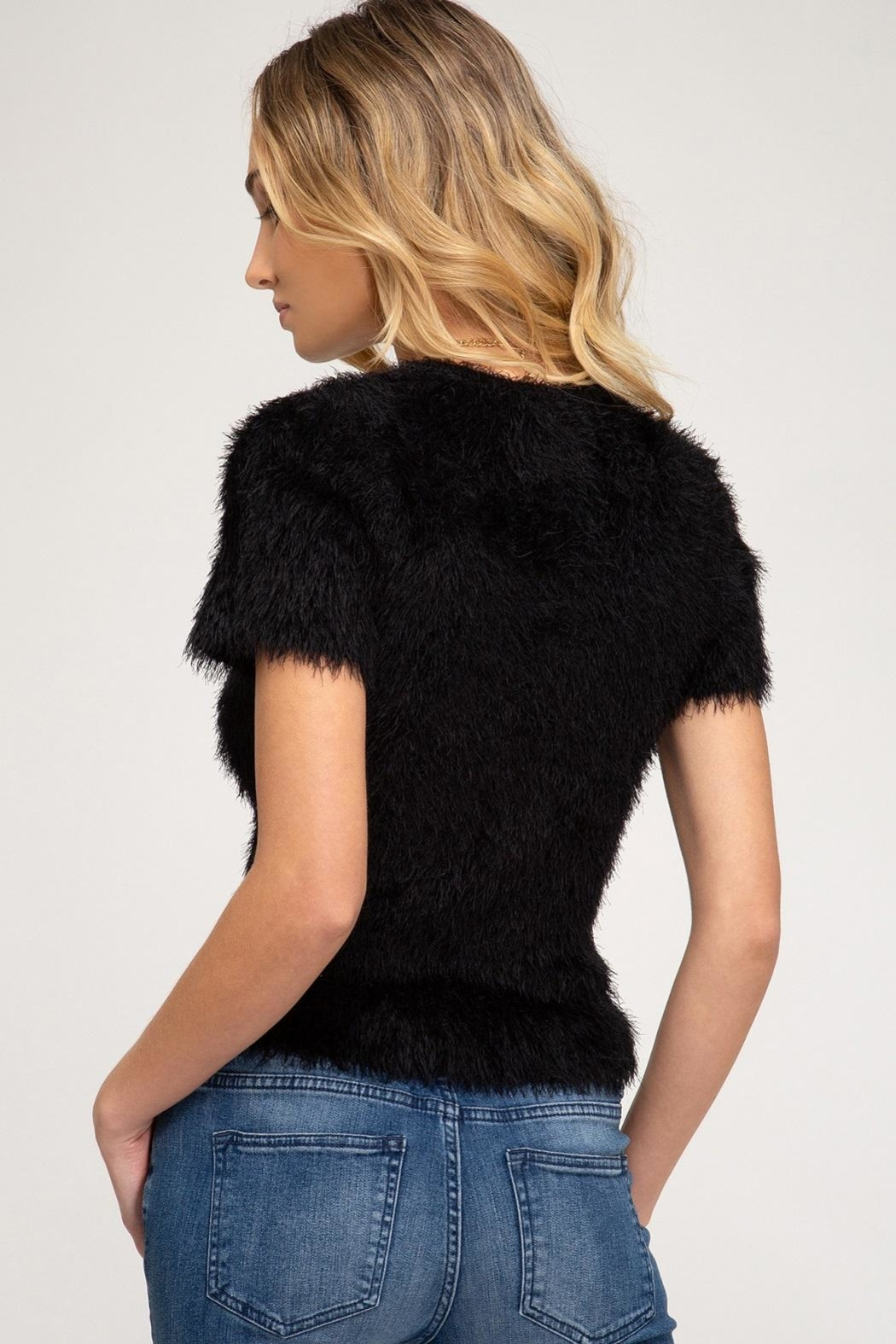 She + Sky Ivy Sweater Black - Front Full Image