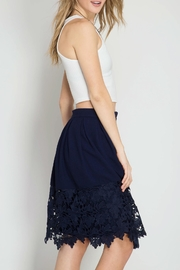 She + Sky Kelly Crochet Skirt - Back cropped