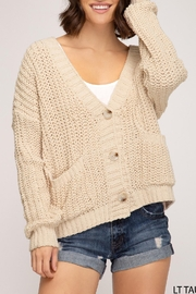She + Sky Knit Cardigan - Product Mini Image