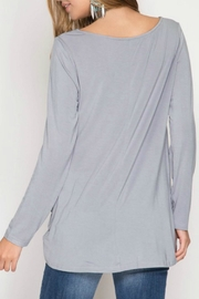 She + Sky Knot Front Tee - Front full body