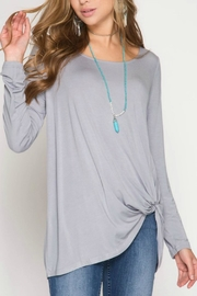 She + Sky Knot Front Tee - Front cropped