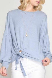 She + Sky Knotty Front Pullover - Product Mini Image