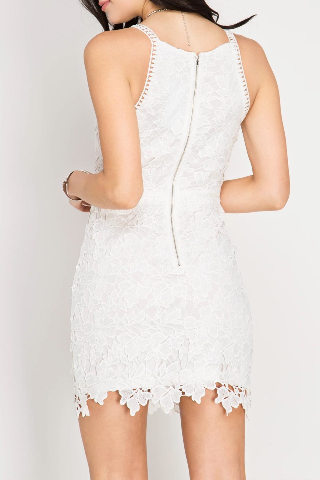 She + Sky Lace Bodycon Dress - Front Full Image