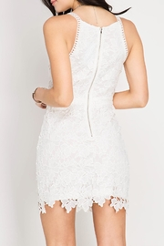 She + Sky Lace Bodycon Dress - Front full body
