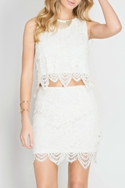 She + Sky Lace Crop Top - Side cropped