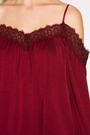 She + Sky Lace Detail Satin Top - Other
