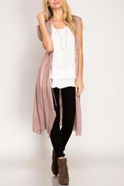She + Sky Lace Duster Vest - Product Mini Image