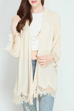 Shoptiques Product: Lace Hem Cardigan