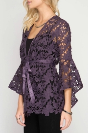She + Sky Lace Jacket - Front full body