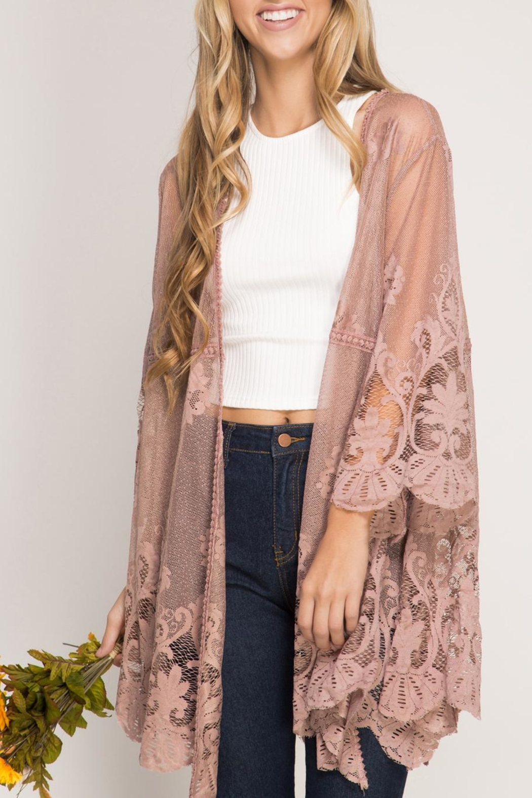 She   Sky Lace Kimono Cardigan from Florida by Dressing Room ...