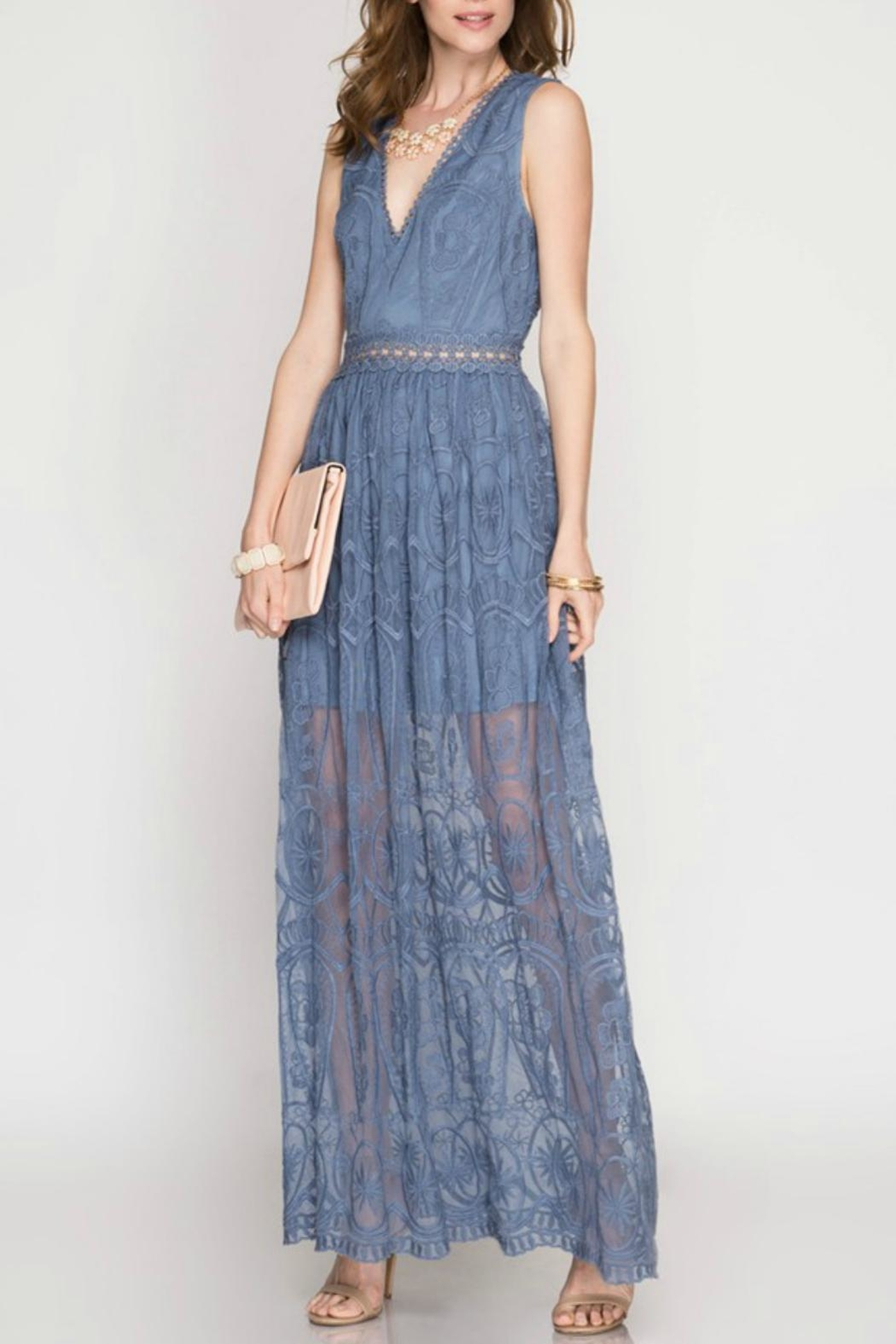 80ee8a3c067 She + Sky Lace Maxi Dress from New Hampshire by Pretty Little Things ...