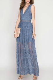 She + Sky Lace Maxi Dress - Product Mini Image