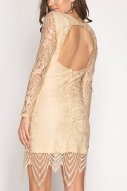 She + Sky Lace Open-Backed Dress - Front full body