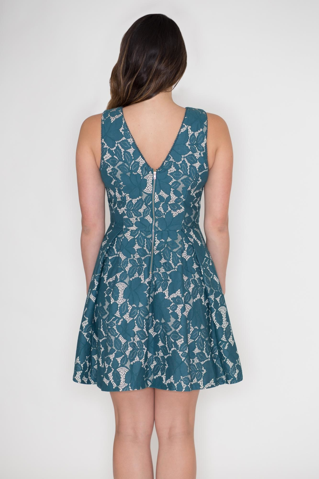 She + Sky Lace Overlay Dress - Side Cropped Image