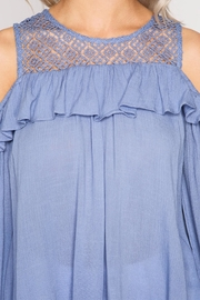 She + Sky Lace And Ruffle Top - Front full body