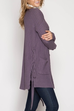 She + Sky Lace-Up Cardigan - Alternate List Image