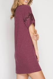 She + Sky Lace Up Shift Dress - Front full body