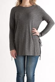 She + Sky Lace-Up Side Top - Product Mini Image