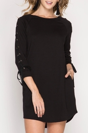 She + Sky Lace Up Sleeve Dress - Front full body