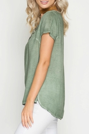 She + Sky Lace Up Top - Front full body