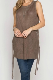 She + Sky Laceup Sweater Tunic - Product Mini Image