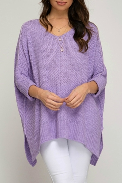 She + Sky Lavender Knit Top - Product List Image