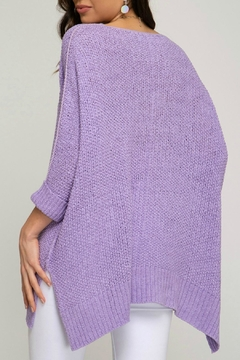 She + Sky Lavender Knit Top - Alternate List Image