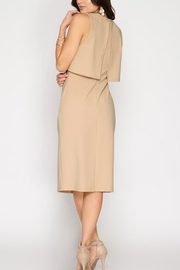 She + Sky Layered Bodycon Dress - Front full body