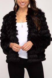 She + Sky Layered Faux-Fur Jacket - Product Mini Image