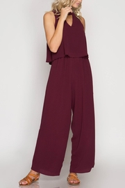 She + Sky Layered Jumpsuit - Product Mini Image
