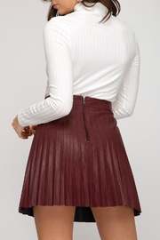 She + Sky Leather Pleated Mini - Front full body