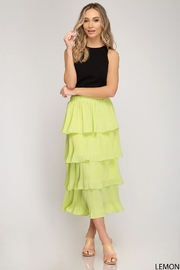 She + Sky Lemon Tiered Skirt - Product Mini Image