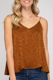 She + Sky Leopard Cami - Side cropped