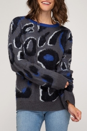 She + Sky Leopard Print Sweater - Product Mini Image