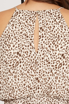 She + Sky Leopard Smocked Jumpsuit - Alternate List Image