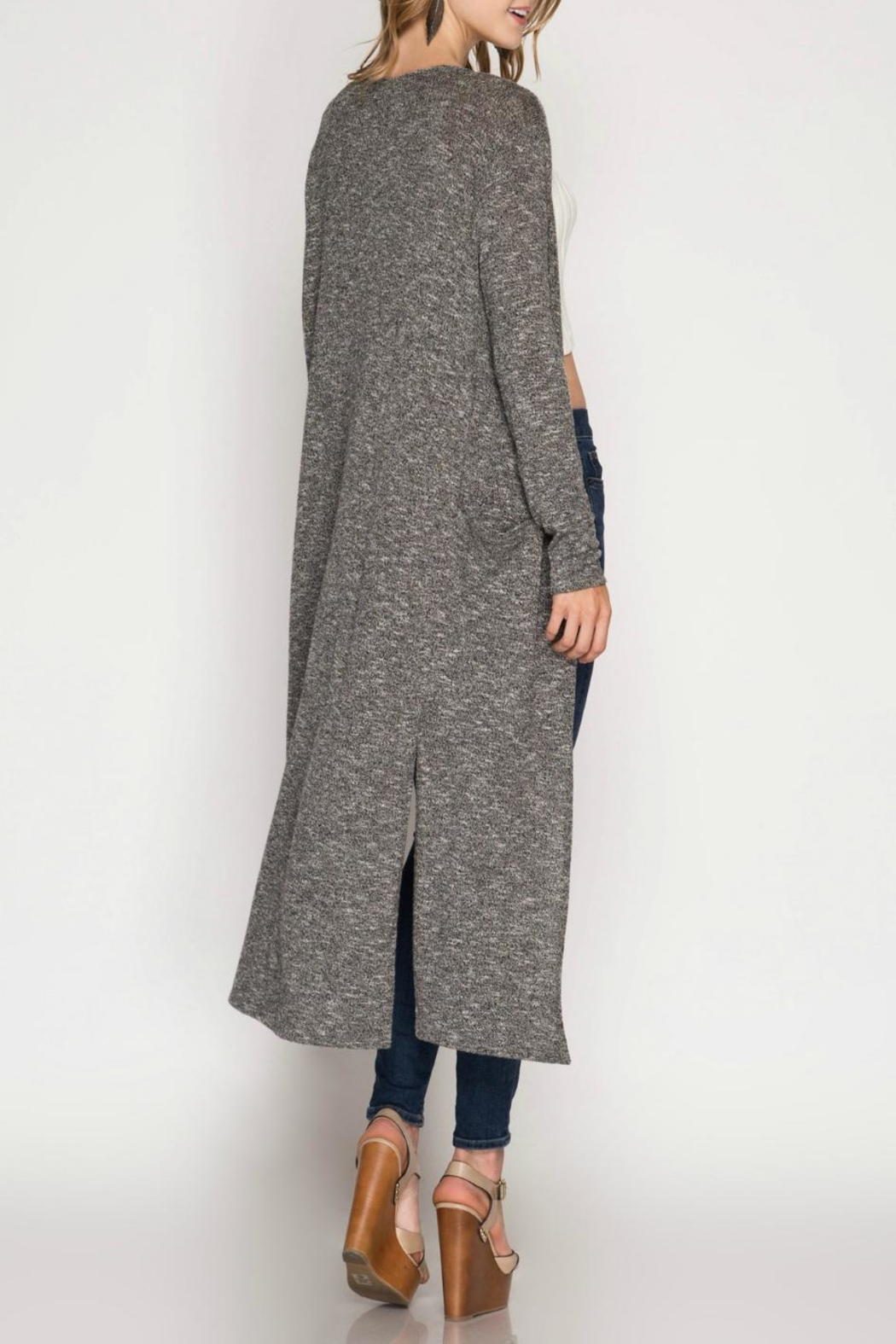 She + Sky Lightweight Knit Duster - Front Full Image
