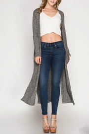 She + Sky Lightweight Knit Duster - Front cropped