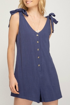 She + Sky Lola Button-Up Romper - Product List Image