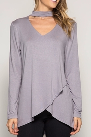 She + Sky Long Sleeve Choker Tunic - Front full body