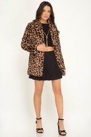She + Sky Long Sleeve Leopard Fur Jacket - Product Mini Image