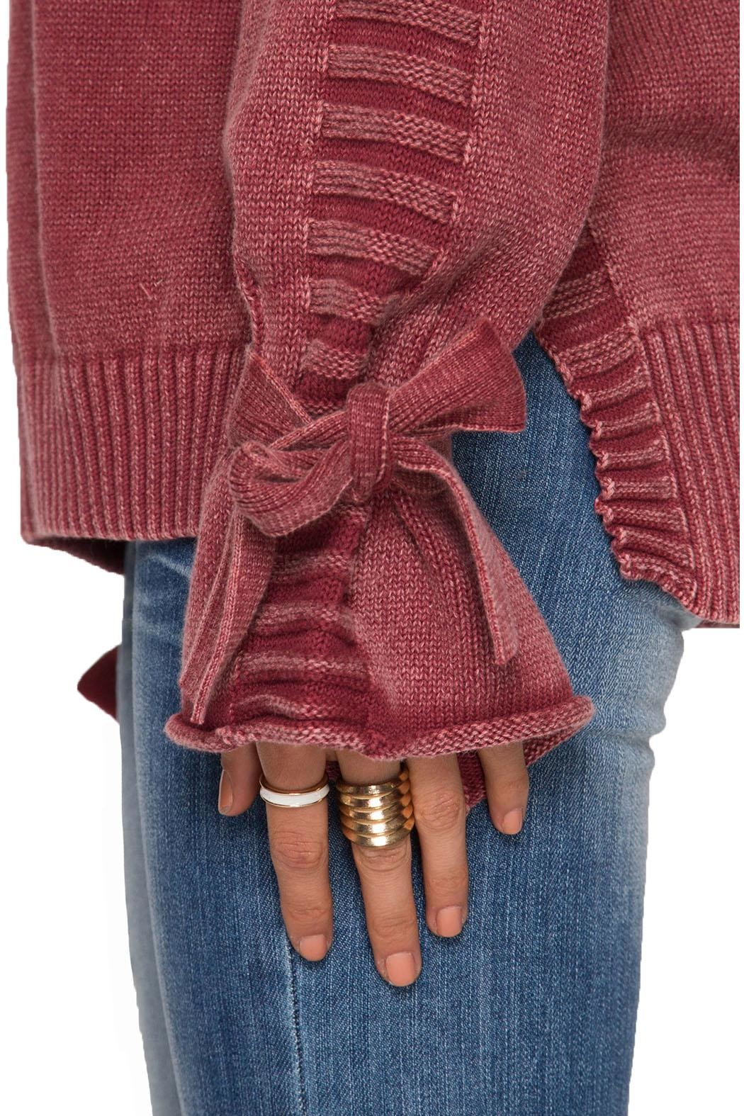 She + Sky Long Sleeve Pullover - Back Cropped Image