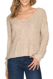 She + Sky Long Sleeve Sweater - Front cropped