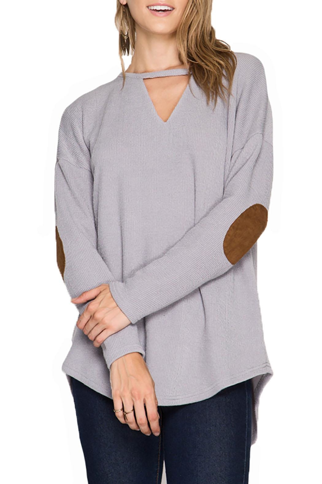 She + Sky Long Sleeve Top - Front Cropped Image