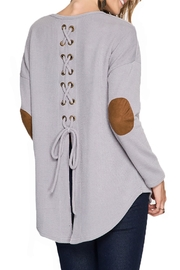 She + Sky Long Sleeve Top - Front full body