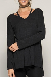 She + Sky Long-Sleeve Tunic Top - Front cropped